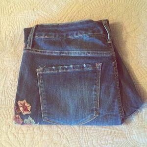 Floral Appliqué Jeans